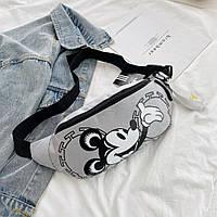 Женская поясная сумка, бананка adidas originals Mickey Grey, фото 1