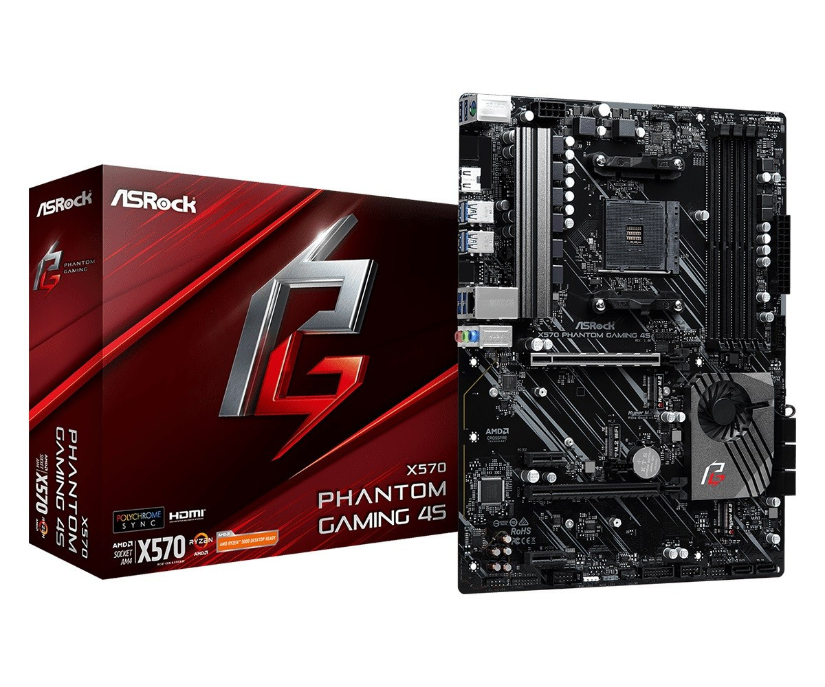 Материнская плата ASRock X570 Phantom Gaming 4S Socket AM4