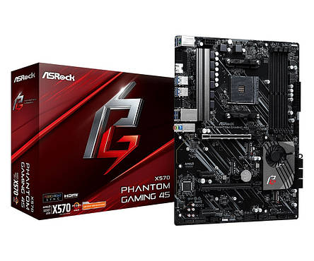 Материнская плата ASRock X570 Phantom Gaming 4S Socket AM4, фото 2