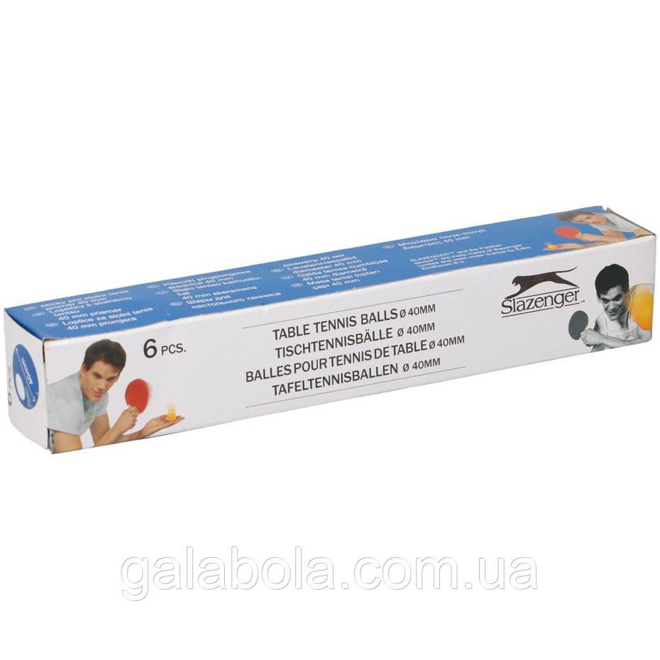 Шарики для настольного тенниса Slazenger  2076027 (6 штук)