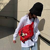 Сумка, бананка Adidas Mickey Red, фото 1