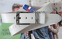 Мужской кожаный ремень Tommy Hilfiger белый, фото 1