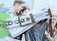 Мужской тканевый ремень Tommy Hilfiger белый, фото 1