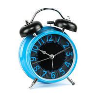 Часы настольные с будильником À linfini Горизонт Table clock 16 х 11.5 х 5.5 см Голубой 22179, КОД: 1769127