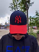 Кепка бейсболка тракер New York Сине-красный, фото 1