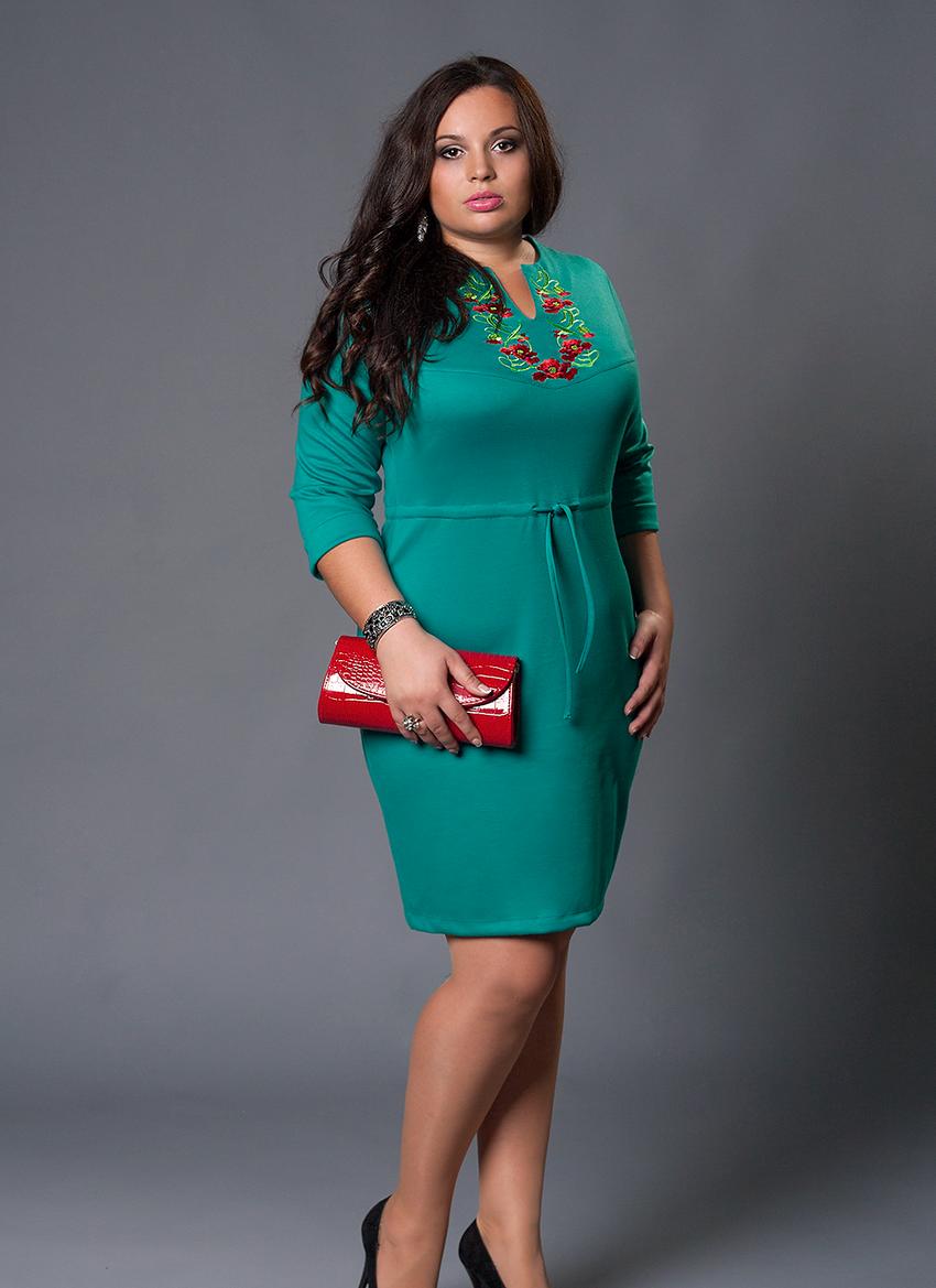 Стильное женское платье больших размеров  продажа, цена в ... 5960de031b4