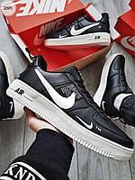Мужские кроссовки Nike Air Force Low Black/White, фото 1