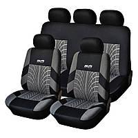Набор автомобильных чехлов на сиденья Adenki универсальный размер Черно-серый (46-891711567)