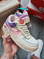Женские кроссовки Nike Air Force 1 Shadow BEIGE PALE IVORY