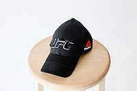Кепка бейсболка коттон UFC Reebok Чёрный, фото 1