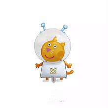 Фольгированный шар три кота космонавт 72*43 см.