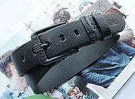 Мужской кожаный ремень для джинсов Calvin Klein black