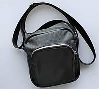 """Мужская сумка """"Toro"""" среднего размера из натуральной кожи черная, фото 1"""