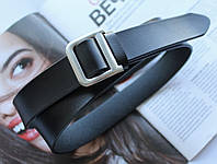 Женский кожаный ремень Dior ширина 2.5 см черный