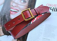 Женский кожаный ремень Dior ширина 2.5 см красный