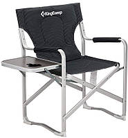 Раскладное кресло KingCamp Deluxe Director chair BLACK STRIPE (KC3821 BLACK STRIPE)