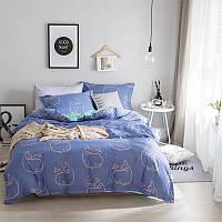 Комплект постельного белья Кит с простынью на резинке (полуторный) Berni