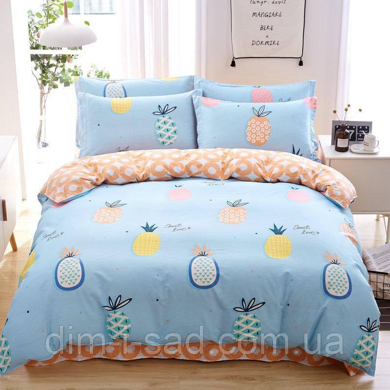Комплект постельного белья Ананас (двуспальный-евро) Berni