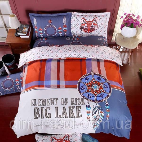 Комплект постельного белья Большое озеро (двуспальный-евро) Berni