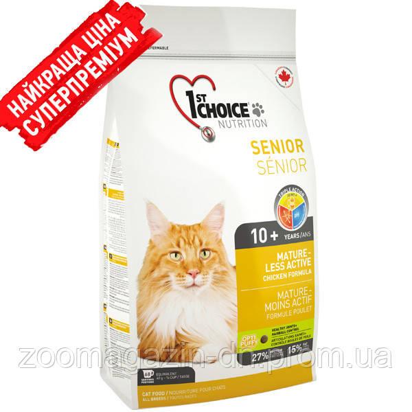 1st Choice Senior Mature Less Aktiv ФЕСТ ЧОЙС СЕНЬОР сухой супер премиум корм для пожилых или малоактивных котов , 5.44 кг.