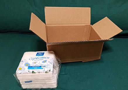 Картонная коробка вместимостью до 1 кг фактического или объемного веса 240*170*100, фото 2