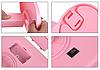 Зеркало для макияжа с LED подсветкой Large Led Mirror - косметическое зеркало на 22 светодиода (Розовое), фото 5