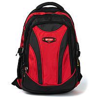 Рюкзак мужской  городской цвет красный 45*30*10см Power In Eavas (924 red)