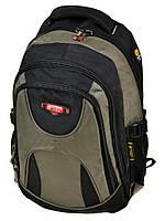 Мужской городской рюкзак цвет зеленый материал нейлон 45*32*18см Power In Eavas (920 green)