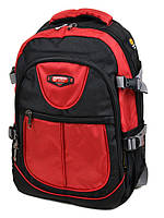 Мужской городской рюкзак материал нейлон цвет красный 47*32*17см Power In Eavas (9602 red)
