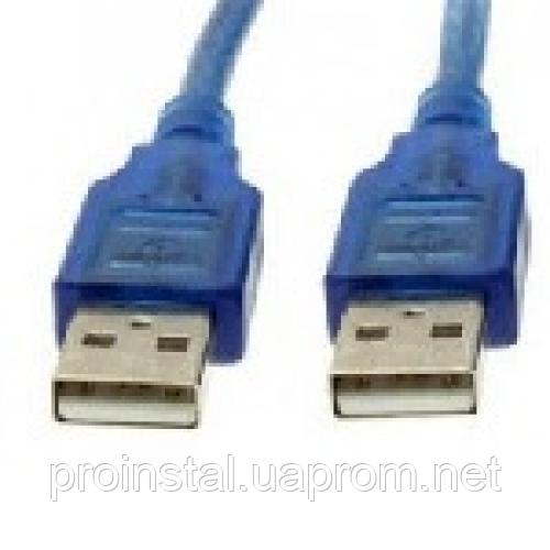 Кабель USB 2.0 RITAR AM - AM, 1.8m, прозрачный синий