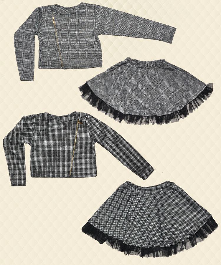 Костюм для дівчинки-піджак + спідниця двухнитка