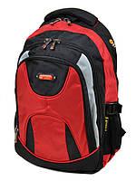 Вместительный прочный мужской рюкзак цвет красный материал нейлон 45*32*18см Power In Eavas (920 red)