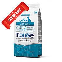 Сухой корм для собак Monge Hypoallergenic Salmon & Tuna 15 кг