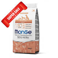 Сухой корм для собак Monge All Breeds Adult Salmon & Rice 2,5 кг