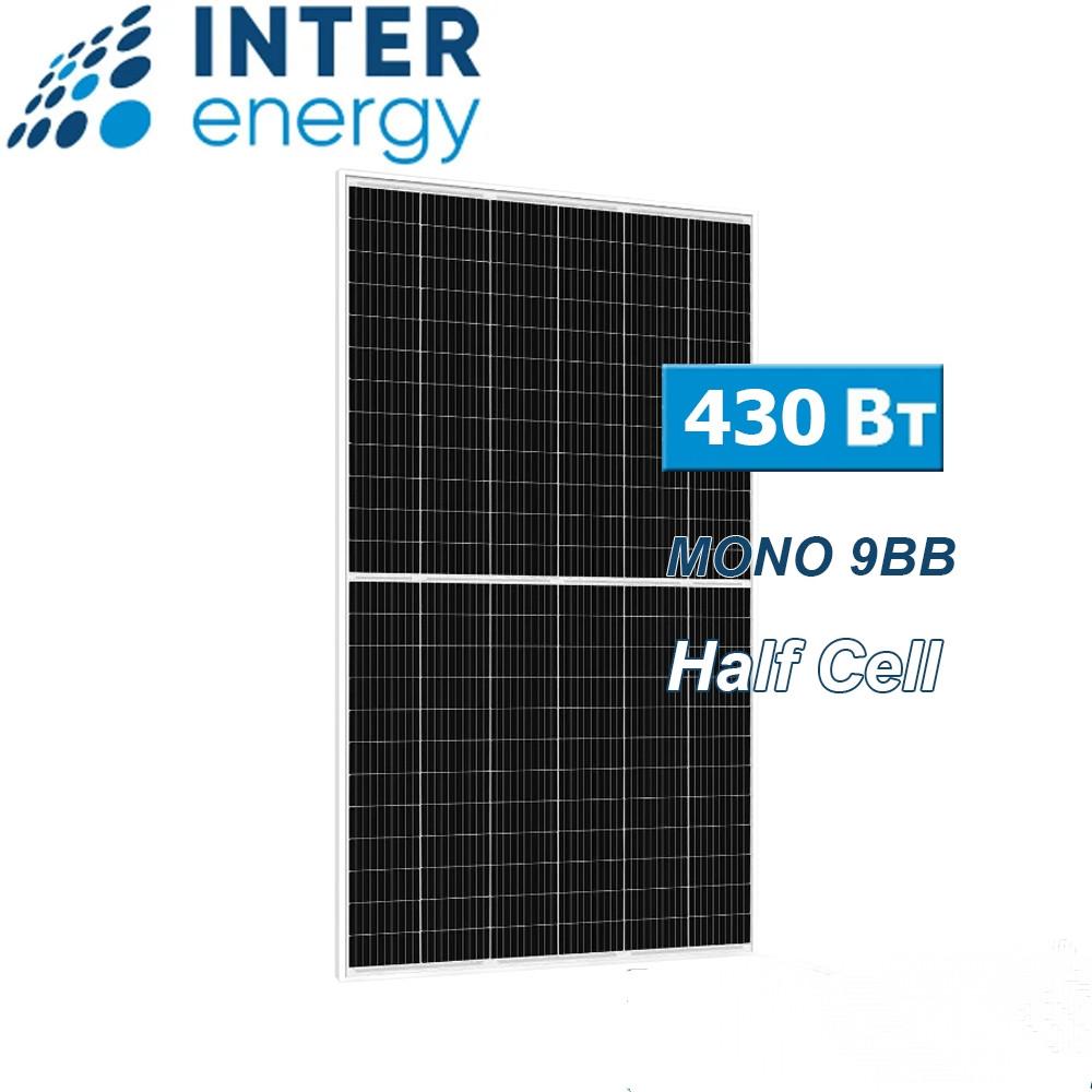 СОЛНЕЧНАЯ БАТАРЕЯ INTERENERGY IE158-72M-H-430W, 9BB, HALF CELL, МОНОКРИСТАЛЛ