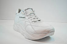 Женские модные кожаные кроссовки белые в стиле 16 - 06