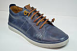 Мужские спортивные туфли кожаные кеды синие Lucky Choice 466.036.14, фото 2