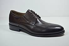 Мужские кожаные туфли броги коричневые Sensor Marriotti 210