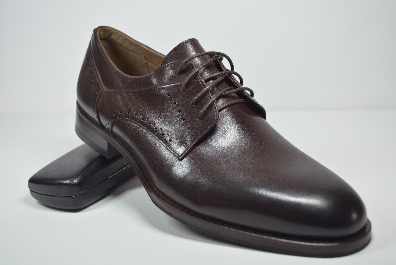 Мужские кожаные туфли коричневые Sensor Marriotti 223/3