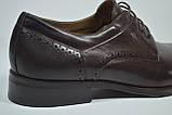 Мужские кожаные туфли коричневые Sensor Marriotti 223/3, фото 2