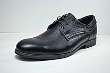 Чоловічі шкіряні туфлі чорні велетні Botus 6 - 1