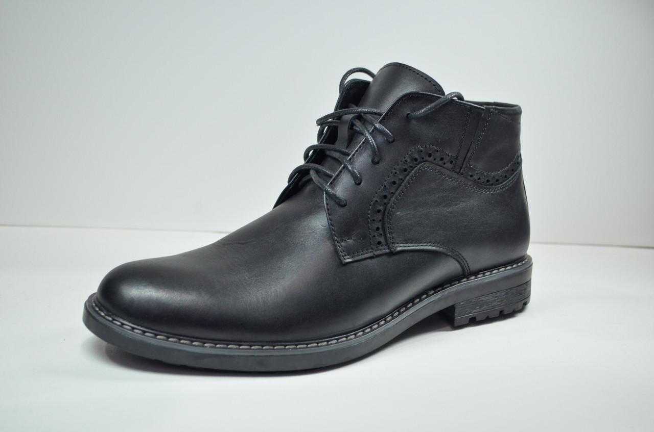 Мужские кожаные ботинки черные зимние Botus 26