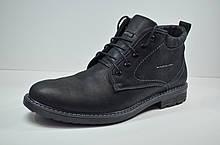 Мужские нубуковые ботинки черные зимние Botus 5