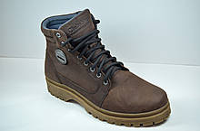 Мужские нубуковые ботинки коричневые зимние Clubshoes В 2