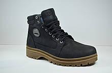 Мужские нубуковые ботинки черные зимние Clubshoes В 2