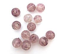 Бусина LW фиолетовая с золотым песком, 10 мм