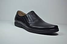 Мужские комфортные туфли кожаные черные Cevivo 721