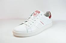 Мужские кожаные кеды белые с красным в стиле Stan Smith 71 - 10