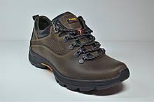 Чоловічі демісезонні шкіряні кросівки коричневі Ferum T-17