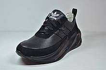 Подростковые и женские кожаные черные кроссовки Sharks акула 27.01